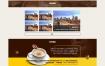 咖啡奶茶餐饮店网站织梦dede模板源码[带手机版数据同步]
