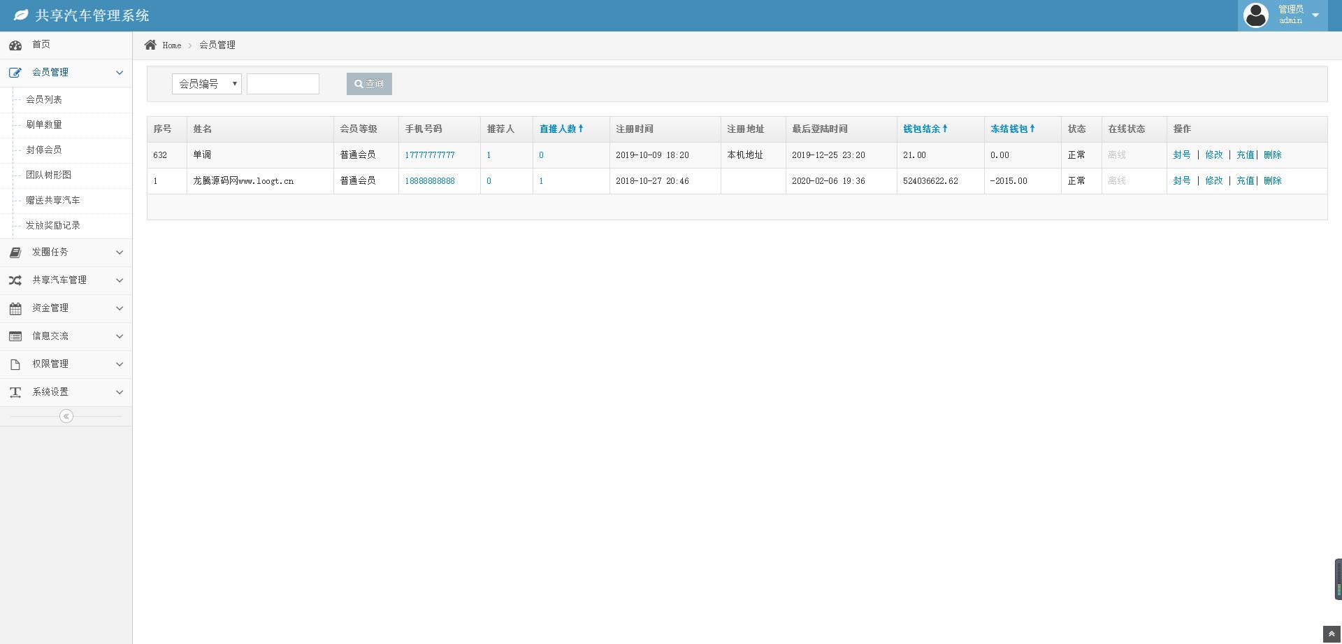 【亲测】共享汽车挂机管理系统,已对接码支付插图4