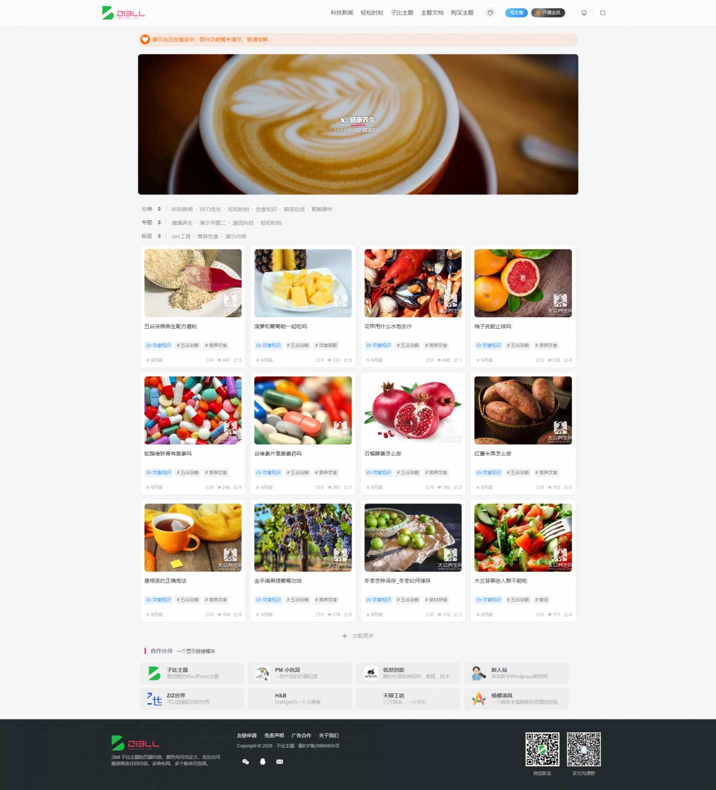 【Zibll4.0】子比主题4.0博客风格使用阅读+资源类型+多种布局插图