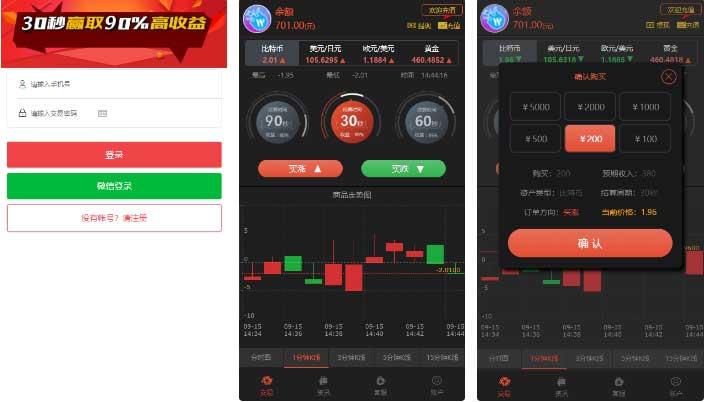 【新版时间盘】第一版二开微交易时间盘金属时间盘 +财经资讯+带微信登录插图