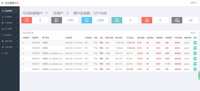【亲测源码】汇汇通微盘usdt支付完美运营版+完整数据+K线正常+3种语言插图5