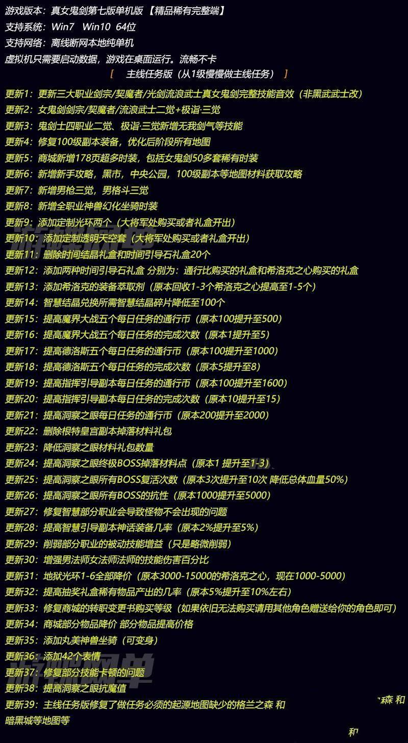 鹤云资源博客-[第七版DNF]升级39项內容的极致亲自测试单机版游DNF服务器端+详尽视频设置实例教程插图3