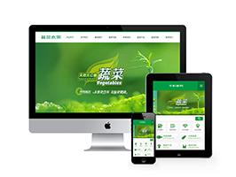 绿色蔬菜水果产品类网站织梦模板(带手机端),PC+wap+利于SEO优化插图
